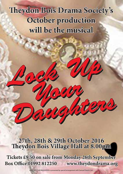 Drama Society Lock up your daughters poster