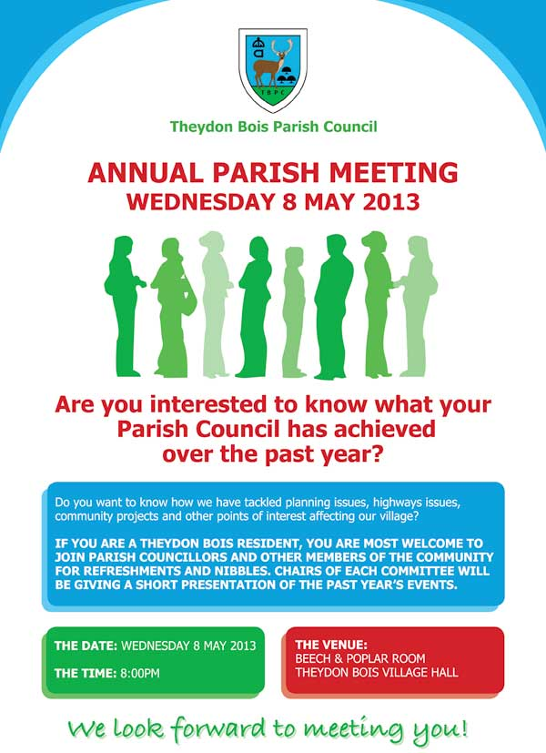 Parish Council Meeting Poster