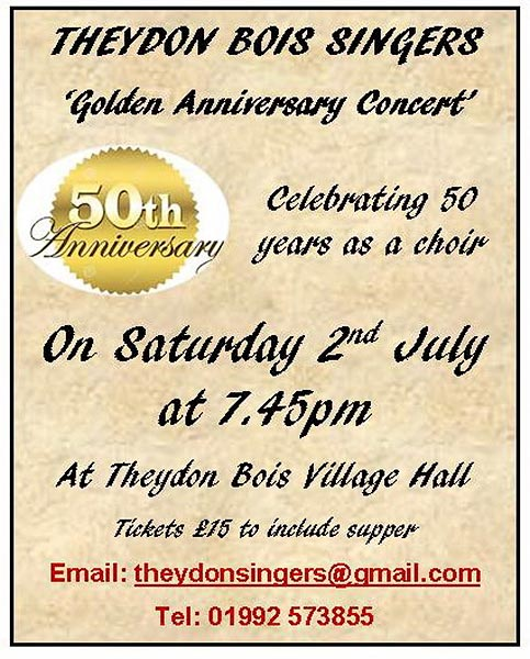 Theydon Bois Singers Concert Poster