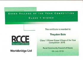 RCCE Awards Certificate